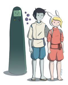 What if the characters from Adventure Time starred in Studio Ghibli-inspired films like Princess Marceline and Fiona and Cake Spirited Away? Artist David gives us some great cartoon mashups and introduces us to Cakebus! Adventure Time Movie, Adventure Time Tumblr, Marceline, Cartoon Network, Adveture Time, Chibi, Jake The Dogs, Studio Ghibli Movies, Nickelodeon