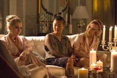 Pin for Later: 'Tis the Season to Get All Your Outfit Inspiration From Scream Queens  Really? Who looks this flawless for bedtime?!