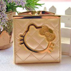HELLO KITTY Hello Kitty cartoon coin wallet change Korean cute Lady fashion  buckle bag coin purse e4df5bdf284af