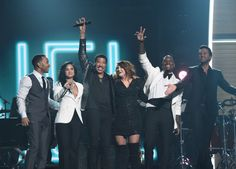 John Legend, Demi Lovato, 2016 MusiCares Person of the Year Lionel Richie, Meghan Trainor, Tyrese, and Luke Bryan perform on the 58th Annual GRAMMY Awards on Feb. 15 in Los Angeles