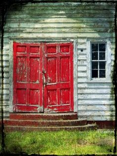 the last door down the hall: #19 and the Red Doors...Digital Photograph