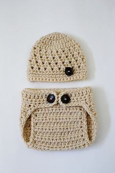 love the crocheted diaper covers and hats! so cute!
