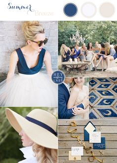 Summer Breeze - Casual Chic Wedding Inspiration in Navy, Taupe, and White #casualchicweddings #summerweddings