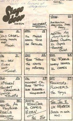 Midnight Oil: MIDNIGHT OIL - 28 Dec 1979 - Stagedoor Tavern, Syd...