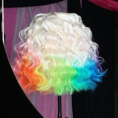Hot Hair Colors, Cool Hair Color, Creative Hair Color, Love Hair, Gorgeous Hair, Colored Wigs, Ombre Wigs, Wig Hairstyles, Hairstyle Ideas