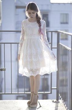 White Confirmation Dresses for Girls