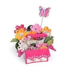 Bigz XL Die - Card in a Box, A2 Flower Basket - Carte dans une boîte, A2 Panier de Fleurs - Lori Whitlock
