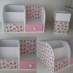 Diy Crafts For Home Decor, Easy Paper Crafts, Diy Crafts Hacks, Diy Crafts For Gifts, Diy Arts And Crafts, Diy Room Decor, Diy Projects, Cardboard Organizer, Cardboard Box Crafts