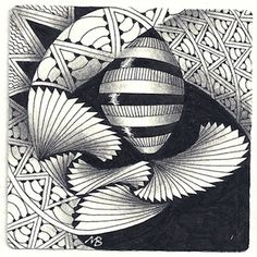by Margaret Bremner, Certified Zentangle Teacher (CZT) ~ Enthusiastic Artist, Certified Zentangle Teacher The link doesn't go directly to this picture, unfortunately.