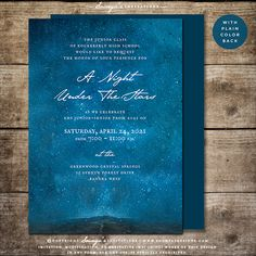 Under The Stars Cosmos Universe Galaxy Prom Invitation by Soumya's Invitations