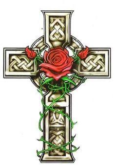 Tatuagens de cruzes e simbolos cristaos 05 - Tinta na Pele | Tatuagem