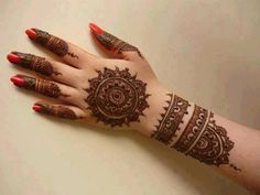 mehendi, pretty, intricate, details, red nail polish, beautiful, simple, focussed