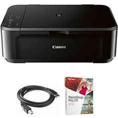 Canon Pixma MG3620 Wireless Inkjet All-In-One Multifunction Printer (0515C002) with High Speed 6-foot USB Printer Cable & Corel Paint Shop Pro X9 - The PIXMA MG3620 is a Wireless Inkjet All-In-One printer that offers convenience and simplicity for all your printing needs. Print and scan from almost anywhere around the house with its wireless capability. Save time and money with great features such as Auto duplex printing and Mobile Device Pr...