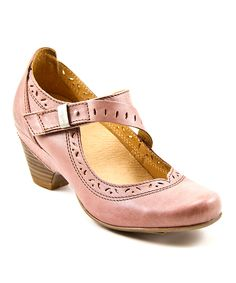 Dusty Rose Lindo Leather Pump | zulily