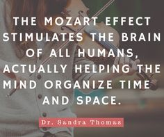 Take a look at this article by our very own Dr. Sandra Thomas about how listening to Mozart can help balance the different hemispheres of your brain for more efficient learning. Mozart Effect, Music Lessons For Kids, Doctor Advice, Adhd Kids, Your Brain, Psychology, Mindfulness, Learning, Psicologia