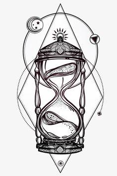 Resultado de imagen de reloj de arena dibujo a lapiz