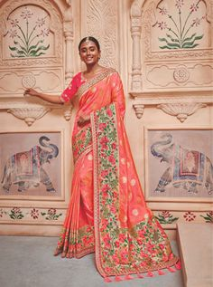 TATHASTU D.NO.-2009 RATE: 4490 - TATHASTU 2001 TO 2015 SERIES  BANARASI SILK JEQUARD TRADITIONAL FANCY SAREE COLLECTION AT WHOLESALE PRICE AT DSTYLE ICON FASHION CONTACT: +917698955723 - DStyle Icon Fashion