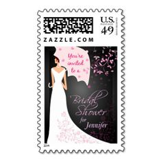 Fancy Bridal shower invitation postage