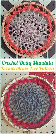 Crochet Doily Mandala DreamCatcher Free Patterns - Crochet Dream Catcher Free Patterns