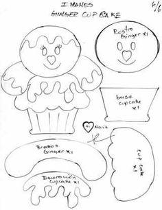 Felt book pattern idea - build an ice cream sunday gingerbread doll