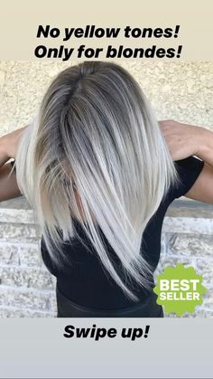 Golden Blonde Balayage for Straight Hair - Honey Blonde Hair Inspiration - The Trending Hairstyle Blonde Hair With Roots, Silver Blonde Hair, Blonde Hair Shades, Ice Blonde, Platinum Blonde Hair, Grey Hair Dark Roots, Blonde Hair With Silver Highlights, Hair Color Purple, Hair Colors