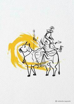 Mahagauri 8 th Swaroop of Durga Out of 9 Swaroop Artist Mahendra Nagvanshi