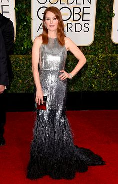 julianne moore in givenchy couture at the 2015 #goldenglobes