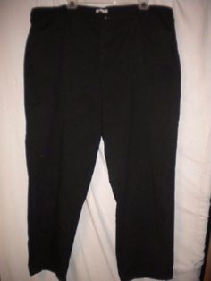 "Lee Plus Size 22W Medium X 30"" Inseam At the Waist Black 4 Pockets Women Pants #Lee #Pants"