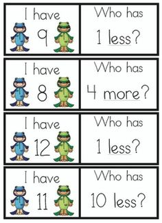 I Have Who Has Addition and Subtraction game!