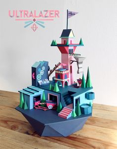 Gorgeous Paper Landscapes by Ultralazer – Geek Art – Art, Design, Illustration & Pop Culture !