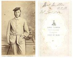 Abel Lewis Isle OF MAN CDV Vintage Albumen Carte DE Visite Tirage Albuminé | eBay