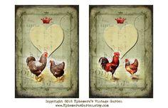 Ephemera's Vintage Garden: New Valentine's Day Digitals and Weekly Freebie