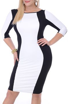 Can Test Me (Plus/White/Black)-Great Glam is the web's best sexy plus size online store clothing website for 1X 2X and 3X clothes for women and juniors.