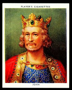 Player's, Kings & Queens of England (large size) 1935. No7 John (reigned 1199-1216)