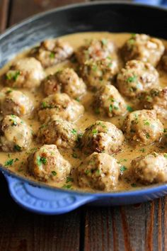 This recipe calls for a combination of beef and pork for an easy version of Swedish meatballs. Get the recipe at Damn Delicious. (ground beef recipes for dinner oven) Beef Dishes, Food Dishes, Main Dishes, Pork Recipes, Cooking Recipes, Chicken Recipes, Recipies, Hamburger Recipes, What's Cooking