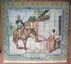 Imagen en azulejos recuperada y restaurada de los Jardines municipales