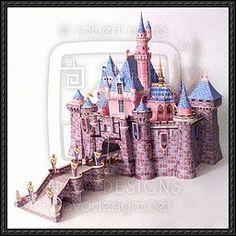 Disney - Sleeping Beauty Castle Papercraft free download   PaperCraftSquare.com