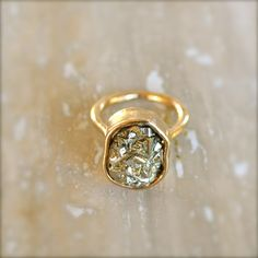 Pyrite Gold Ring by illuminancejewelry on Etsy, SOMEONE BUY THIS FOR ME