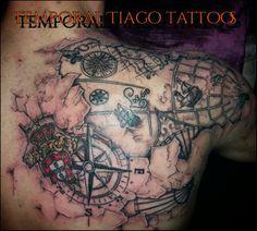 3D portuguese nautic map My work,follow me #temporaltiagotattoos Facebook Portuguese Tattoo, Nautical Tattoo Sleeve, Tattoo Ideas, Tattoo Designs, I Tattoo, Sleeve Tattoos, Tatting, Body Art, Portugal