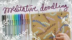 Meditation Doodle Ideas with NEW Gelly Roll Moonlight Pens Doodle Ideas, My Doodle, Fluorescent Colors, New Pen, Program Design, Bookbinding, Diy Videos, Moonlight, Pens