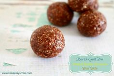 Raw & Guilt-Free Peanut Butter Brownie Bliss Balls - Bake Play Smile
