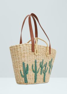 Straw bag | MANGO