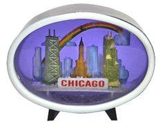 Chicago Vintage Oval Snowdome at snowdomes.com