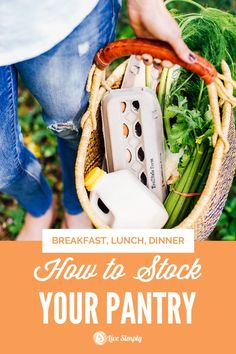 Let's talk about ingredients to stock in your pantry (dry pantry, fridge, and freezer) that will make a variety of breakfasts, along with dinners, snacks, and lunches. Healthy Meals For Kids, Easy Healthy Dinners, Healthy Breakfast Recipes, Yummy Snacks, Breakfast Ideas, Healthy Dinner Recipes, Real Food Recipes, Healthy Snacks, Healthy Groceries