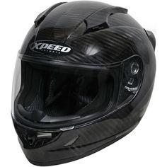 Xpeed Motorcycle Helmet  (Pre-owned Carbon Fiber Men's Streetbike Helmets, Black)