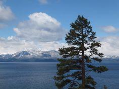 Looking west across Lake Tahoe to the Sierras; near Zephyr Cove, Nevada / http://www.sleeptahoe.com/looking-west-across-lake-tahoe-to-the-sierras-near-zephyr-cove-nevada-4/