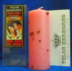 sibila esotérica: Velón DON JUAN DEL AMOR, rosa herbóreo