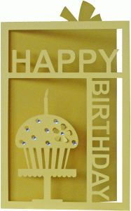 Silhouette Design Store - View Design #38893: happy birthday card