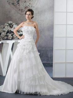 Taffeta Flower(s) Wedding Dresses