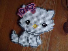 Kitty perler fuse bead wall deco by beadstoterabithia